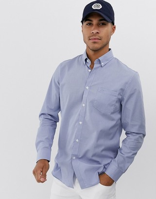 Lacoste check pocket long sleeve shirt-Blue