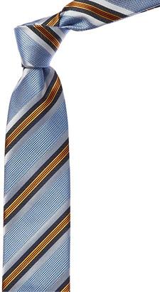 Canali Blue & Orange Stripe Silk Tie