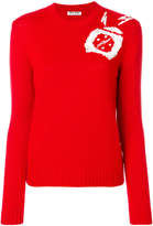 Miu Miu embellished intarsia jumper