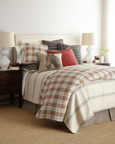 French Laundry Home King Kent Wood Plaid Duvet Cover