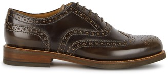 Grenson Stanley dark brown leather Oxford shoes