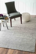 nuLoom Hand Woven Ago Wool Rug - Ivory