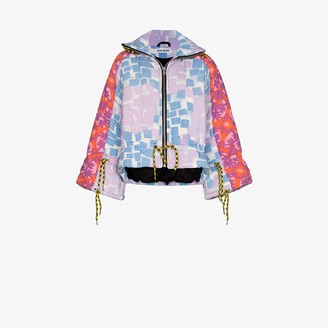 Rave Review Liz patchwork-design puffer jacket