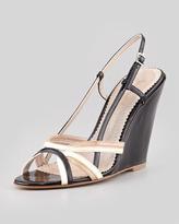 Jean-Michel Cazabat Portia Patent Leather Sandal, Black Multi