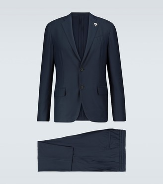 Lardini Easy Wear slim-fit travel suit