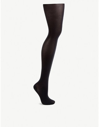 Wolford Women's Black Satin Opaque Nature Tights, Size: L