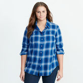 Ralph Lauren Woman Plaid Cotton Twill Shirt