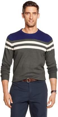 Izod Men's Sportswear Striped Crewneck Slim-fit Sweater
