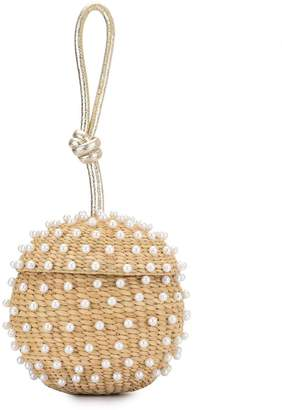 Poolside spherical wrist clutch bag