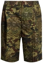 Givenchy Camouflage dollar-print taffeta shorts
