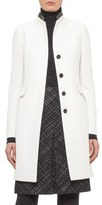 Akris Punto Wool Coat with Leather Trim