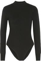 A.L.C. Tota Cutout Stretch-Merino Wool Turtleneck Bodysuit