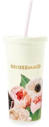 Kate Spade Tumbler With Straw Blushing Floral