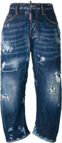 DSQUARED2 Kawaii whiskered distressed jeans - women - Cotton/Spandex/Elastane - 36
