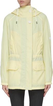 Army by Yves Salomon Colourblock nylon rain jacket