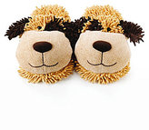 Aroma Home Fuzzy Friend Brown Dog Slippers