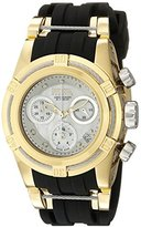 Invicta Women's Quartz Watch with Silver Dial Chronograph Display and Black PU Strap 15281