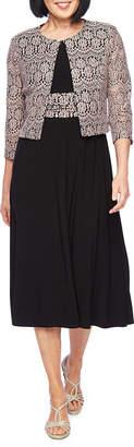 Jessica Howard 3/4 Sleeve Lace Jacket Dress