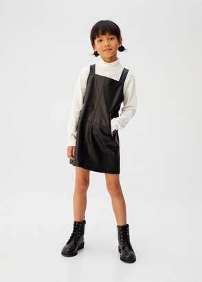 MANGO Zipped shift pinafore dress