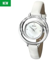 Sekonda Seksy Ladies' White Mother of Pearl Dial & Leather Strap