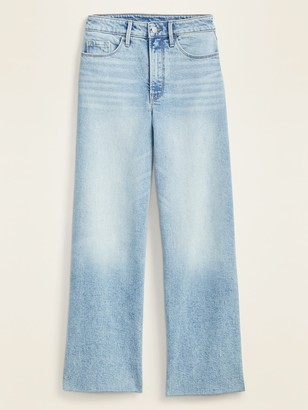 Old Navy Extra High-Waisted Wide-Leg Raw-Hem Jeans for Women