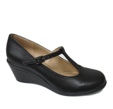 Black Elroy T-Strap Wedge Pump