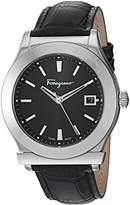 Salvatore Ferragamo Men's FF3950014 1898 Analog Display Swiss Quartz Black Watch