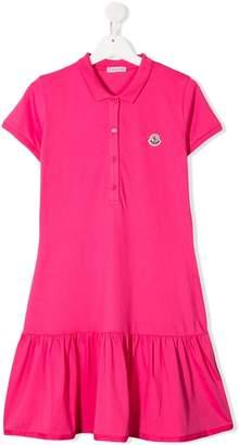 Moncler Enfant TEEN logo-patch polo dress