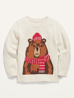 Old Navy Bear-Critter Crew-Neck Sweater for Toddler Boys