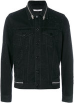 Givenchy zip trim denim jacket - men - Cotton/Polyester - M