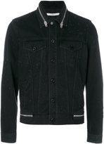Givenchy zip trim denim jacket