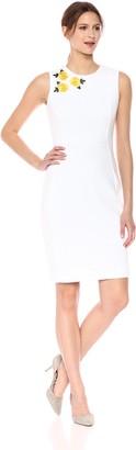 Calvin Klein Women's Floral Applique Sheath Dress