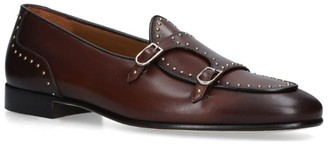 Edhen Milano Stud Double Monk Loafers