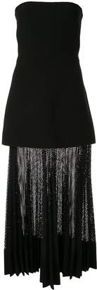 Dion Lee net-pleat strapless dress