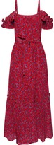 Derek Lam 10 Crosby Cold-shoulder Belted Printed Silk-blend Midi Dress