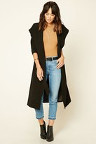 Forever 21 FOREVER 21+ Hooded Longline Coat