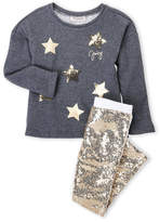 Juicy Couture Girls 4-6x) Two-Piece Star Fleece Pullover & Sequin Leggings Set
