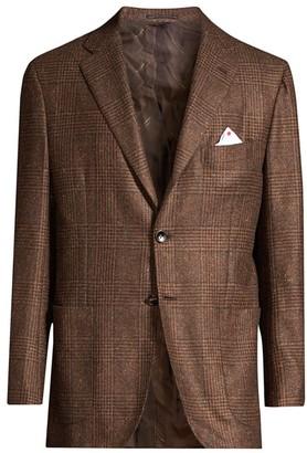 Kiton Glen Plaid Tweed Sport Coat