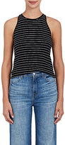 A.L.C. Women's Matt Pinstriped Rib-Knit Cotton Top