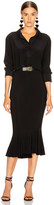 Norma Kamali Boyfriend NK Shirt Fishtail Dress in Black | FWRD