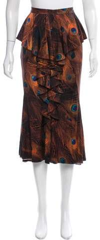 Givenchy Printed Silk Skirt w/ Tags