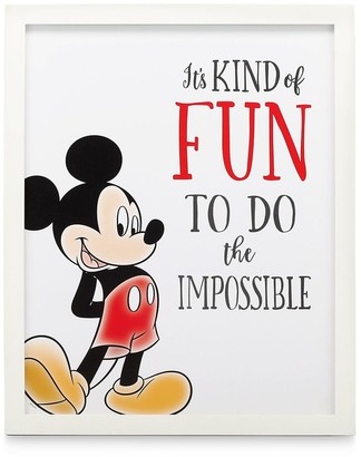 Disney Mickey Mouse Framed Wood Wall Decor ''Do the Impossible''