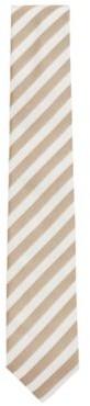 HUGO BOSS Block Stripe Tie In Silk Jacquard - Grey