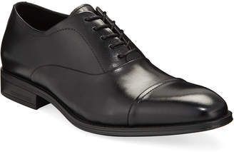 Kenneth Cole Men's Leather Cap-Toe Oxford Dress Shoes