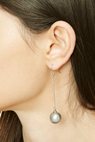 Forever 21 FOREVER 21+ Faux Pearl Drop Earrings