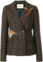Mulberry bird patch double breasted jacket