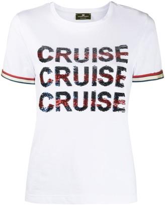 Elisabetta Franchi sequin embellished T-shirt