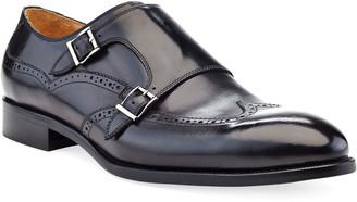 Ike Behar Men's Easton Double-Monk Strap Leather Loafers