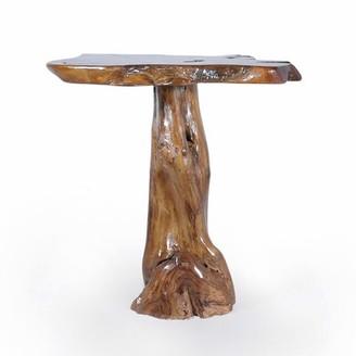 Bouille Teak Slab Pub Solid Wood Dinning Table Union Rustic
