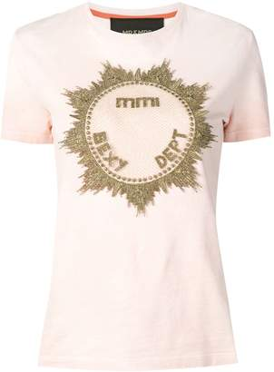 Mr & Mrs Italy metallic embroidered T-shirt